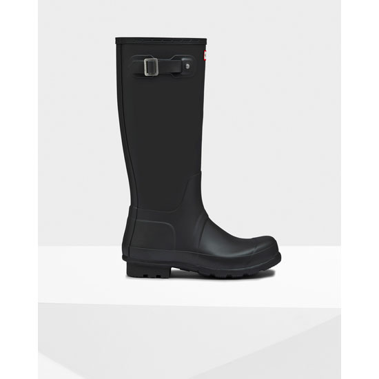 BLACK Hunter mens original short rain boots Outlet Online