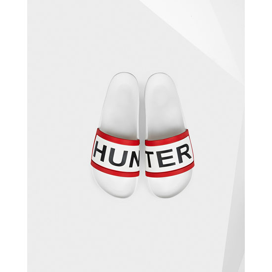 WHITE Hunter Men's Hunter Slides Outlet Online