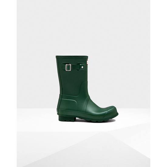 HUNTER GREEN Hunter Men\'s Original Short Rain Boots Outlet Online