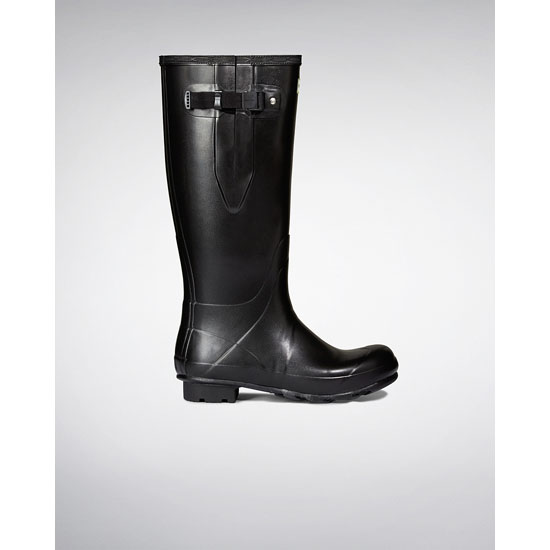 BLACK Hunter Men's Norris Field Side Adjustable Neoprene Lined Rain Boots Outlet Online