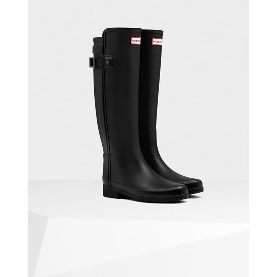 BLACK Hunter Women's Original Refined Back Strap Rain Boots Outlet Online