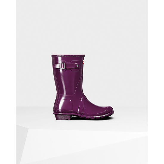 VIOLET Hunter Women\'s Original Short Gloss Rain Boots Outlet Online