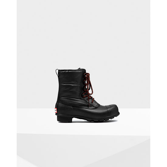 BLACK Hunter Women's Original Quilted Lace-Up Boots Outlet Online