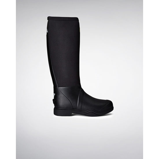 BLACK Hunter Balmoral Equestrian Neoprene Stretch Rain Boots Outlet Online