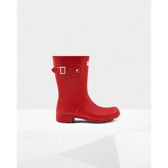 MILITARY RED Hunter Women\'s Original Tour Short Rain Boots Outlet Online
