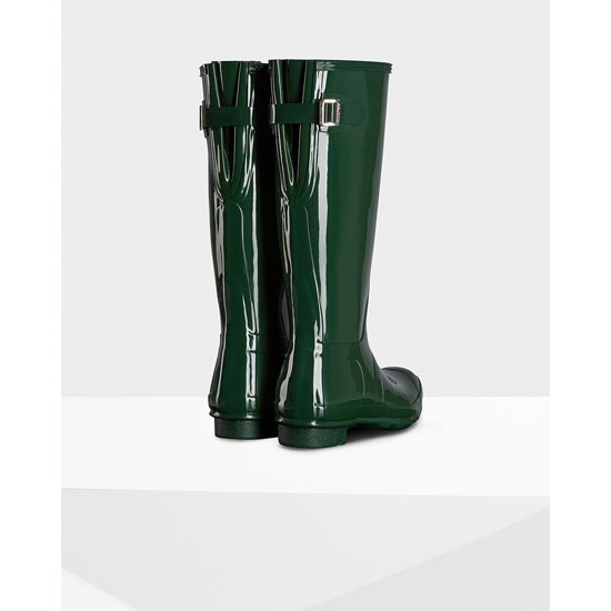 HUNTER GREEN Hunter Women\'s Original Adjustable Gloss Rain Boots Outlet Online
