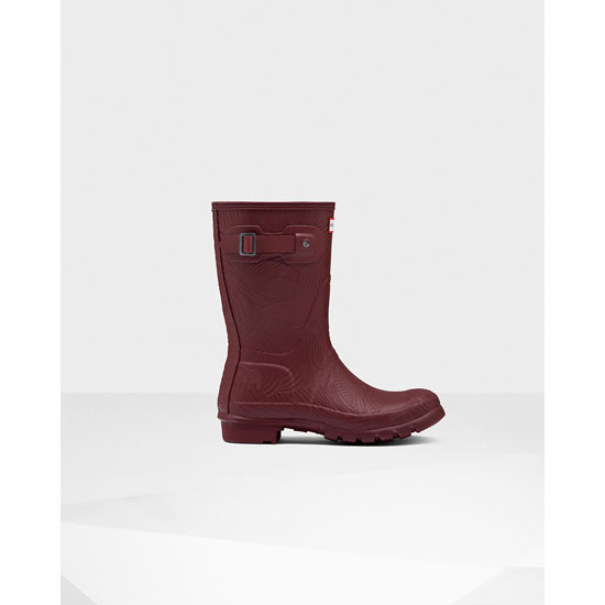 DULSE Hunter Women's Original Short Wave Texture Rain Boots Outlet Online