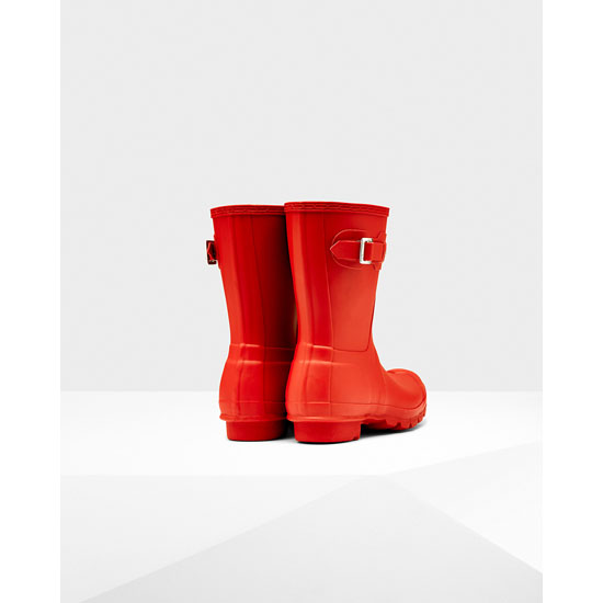 MILITARY RED Hunter Women\'s Original Short Rain Boots Outlet Online
