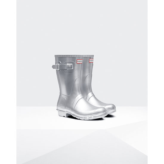 SILVER Hunter Women\'s Original Short Rain Boots Outlet Online
