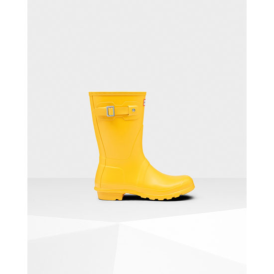 YELLOW Hunter Women's Original Short Rain Boots Outlet Online