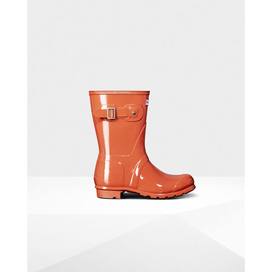 SUNSET Hunter Women's Original Short Gloss Rain Boots Outlet Online