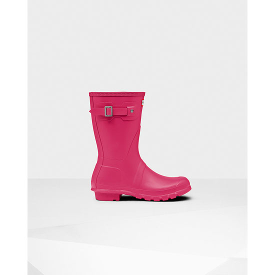 BRIGHT PINK Hunter Women\'s Original Short Rain Boots Outlet Online