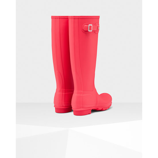 BRIGHT CORAL Hunter Women\'s Original Tall Rain Boots Outlet Online