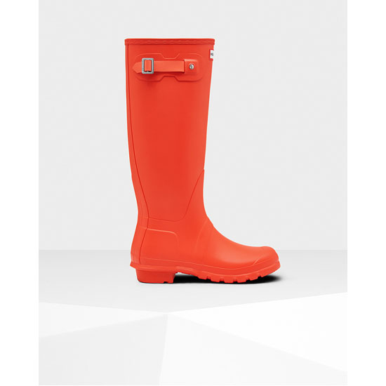 ORANGE Hunter Women's Original Tall Rain Boots Outlet Online