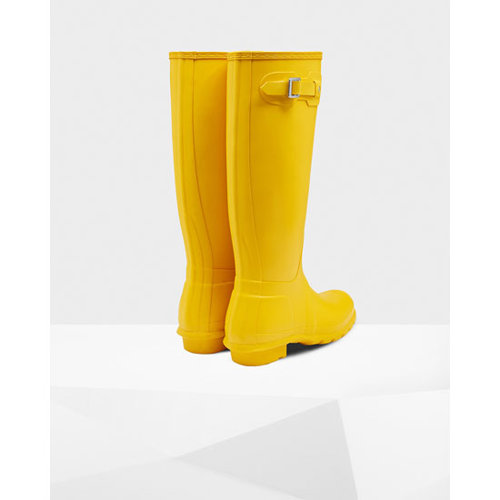 YELLOW Hunter Women\'s Original Tall Rain Boots Outlet Online