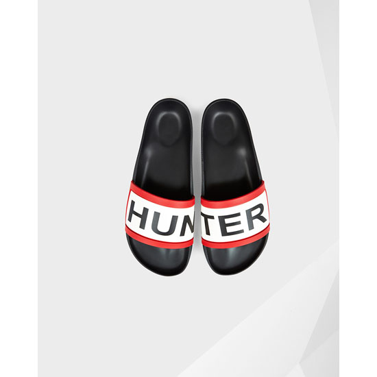 BLACK Hunter Hunter Slides Outlet Online