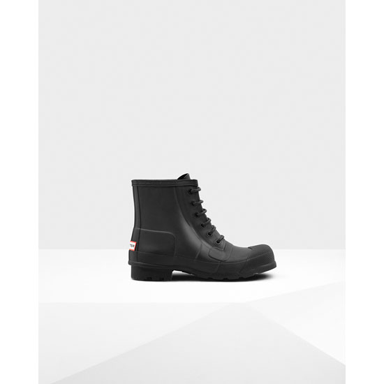 BLACK Hunter Men's Original Rubber Lace-Up Boots Outlet Online