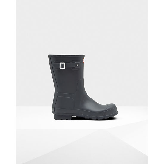 DARK SLATE Hunter Men's Original Short Rain Boots Outlet Online