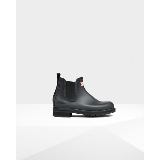 BLACK Hunter Men's Original Pulltab Lightweight Chelsea Boots Outlet Online