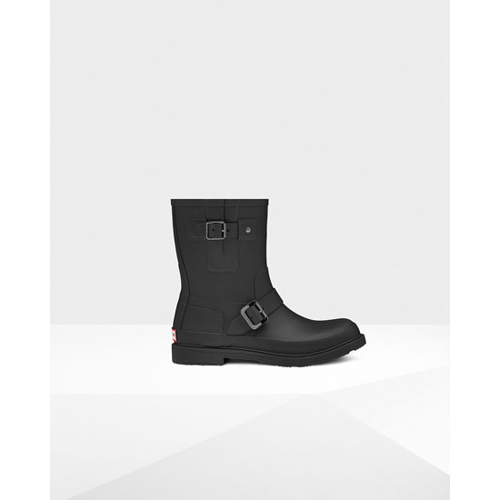 BLACK Hunter Men's Original Rubber Biker Boots Outlet Online