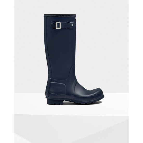 NAVY Hunter Men's Original Tall Rain Boots Outlet Online