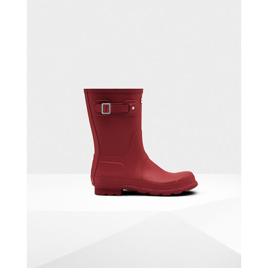 MILITARY RED Hunter Men's Original Short Rain Boots Outlet Online