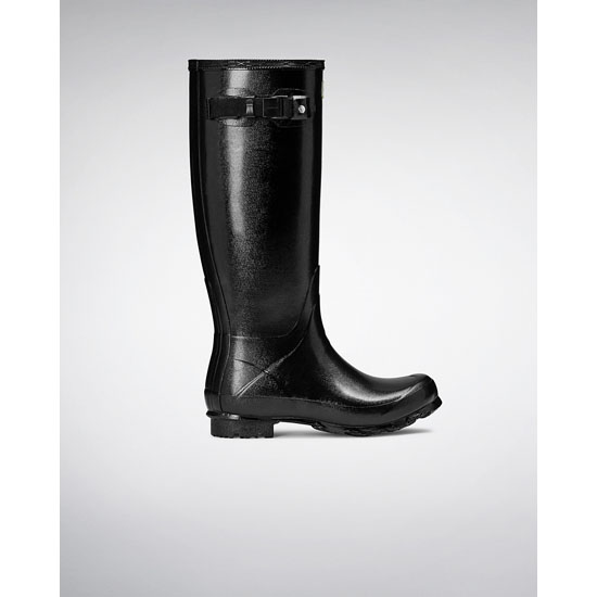 BLACK Hunter Women's Norris Field Gloss Rain Boots Outlet Online