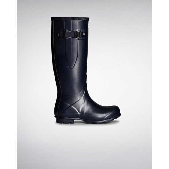 NAVY Hunter Women's Norris Field Side Adjustable Rain Boots Outlet Online