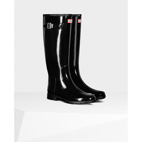 BLACK Hunter Original Refined Gloss Rain Boot Outlet Online