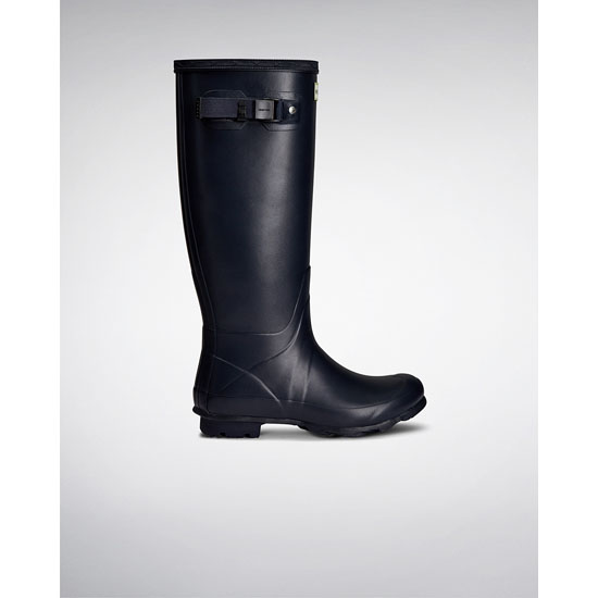 NAVY Hunter Women's Norris Field Neoprene Lined Rain Boots Outlet Online
