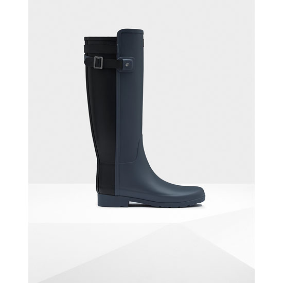 DARK SLATE / BLACK Hunter Women's Original Refined Back Strap Rain Boots Outlet Online