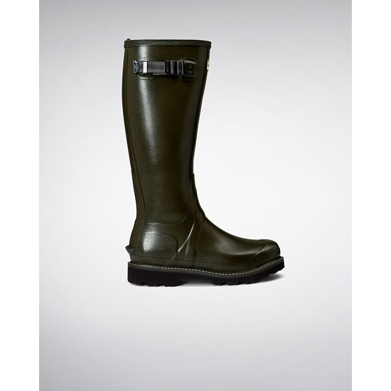 DARK OLIVE Hunter The New Women's Balmoral Poly-Lined Rain Boots Outlet Online