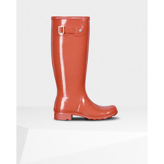TENT RED Hunter Women's Original Tour Gloss Rain Boots Outlet Online
