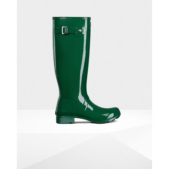 HUNTER GREEN Hunter Women's Original Tour Gloss Rain Boots Outlet Online
