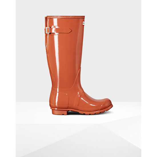 SUNSET Hunter Women's Original Adjustable Gloss Rain Boots Outlet Online