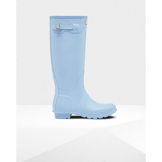 PALE BLUE Hunter Women's Original Tall Rain Boots Outlet Online