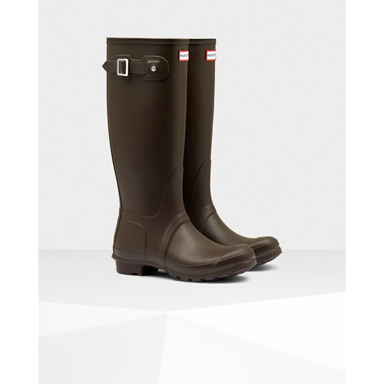BITTER CHOC Hunter Women\'s Original Tall Rain Boots Outlet Online